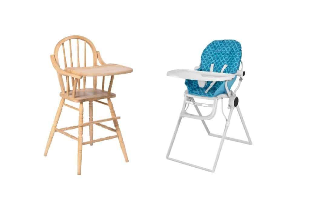 Différents modèles de chaise haute pour bébé